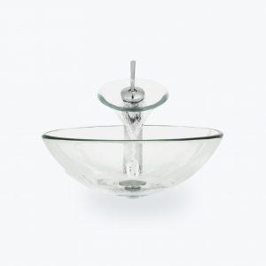 Pultové umývadlo BOWL číre sklo