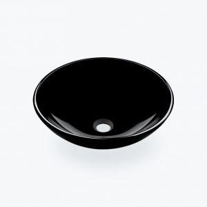 Pultové umývadlo BOWL čierne sklo