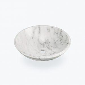 Pultové umývadlo BOWL biely granit