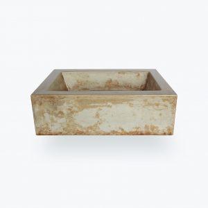 Pultové umývadlo z betónu EDGAR hrdzavé