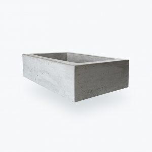 Pultové umývadlo z betónu EDGAR šedé